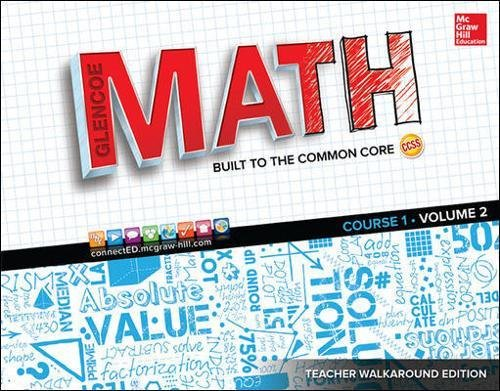 Glencoe Math: Course 1, Vol. 2, Teacher Walkaround Edition (MATH APPLIC & CONN CRSE)