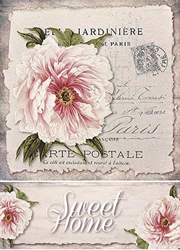 Paeonia Strohseidenpapier Motiv-Strohseide Decoupage Papier Reispapier A4