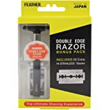 Feather Double Edge Razor Bonus Pack with 20 Extra Hi-Stainless Blades