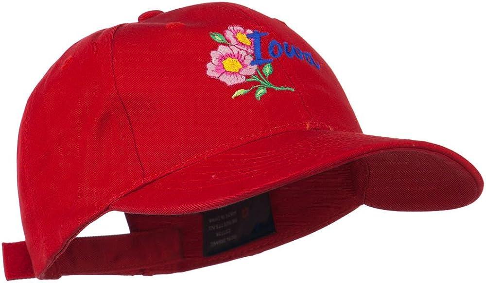 USA State Iowa Wild Rose Embroidered Low Profile Cap
