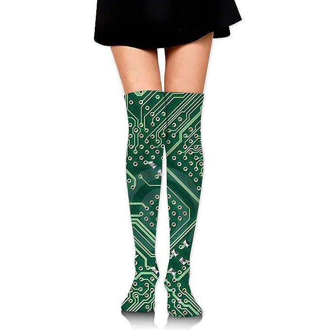 899593426 Amazon.com: Knee High Socks Green Circuit Board Long Socks Boot Stocking  Compression Socks For Women: Clothing