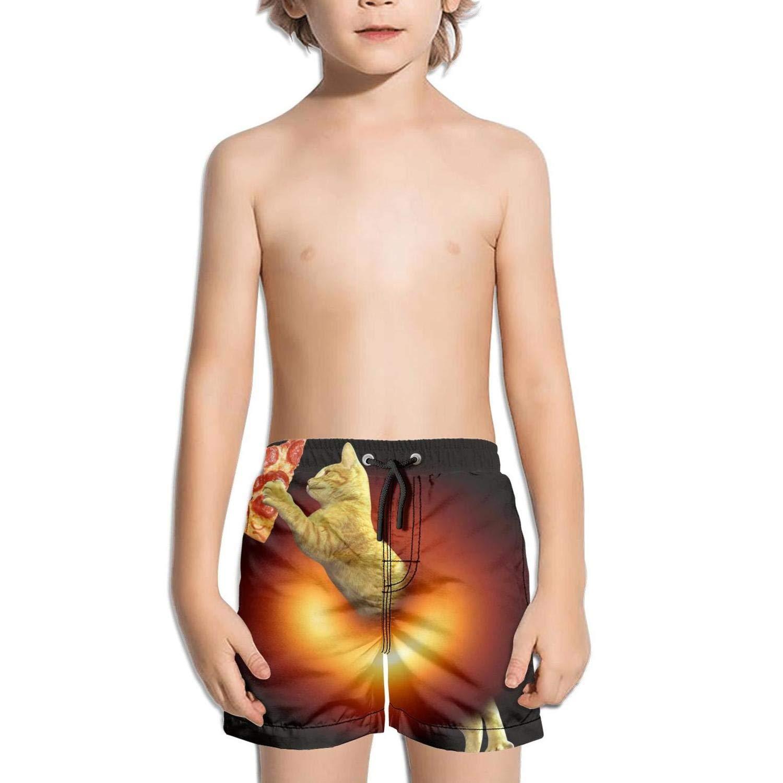 Shorts Trum Namii Boys Quick Dry Swim Trunks Black-Hole-Donut-Cat-Pizza