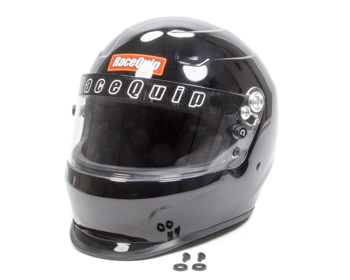 Snell SA-2015 Rated RaceQuip 273006 Gloss Black X-Large PRO15 Full Face Helmet