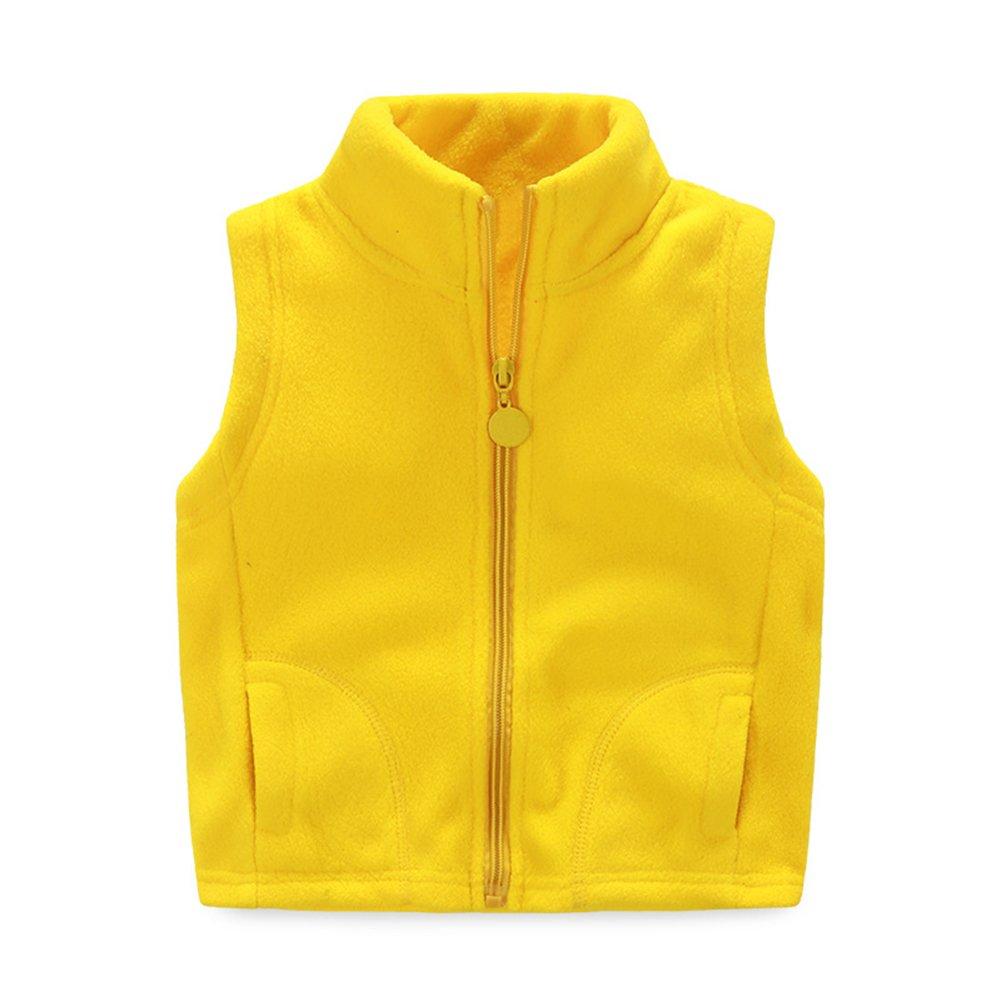 Baby Boy Girl Fleece Solid Vests Kid Zipper Pocket Vest LZ-TZ-204