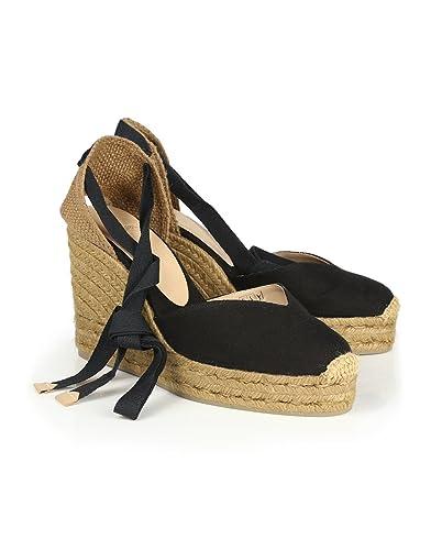 f1957ff64ad Castaner Women's Chiara Classic Canvas Wedge Sandals - Black - EU39 ...