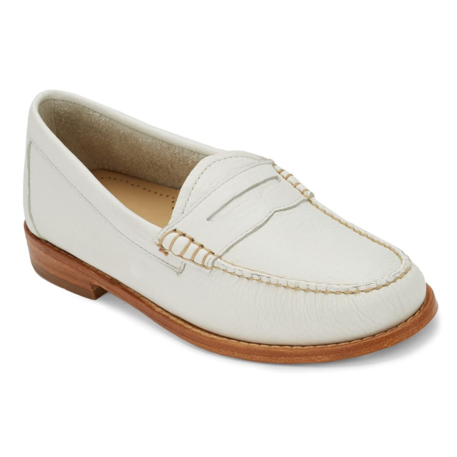 G.H. Bass & Co. Women's Whitney Penny Loafer, White, 6 M US