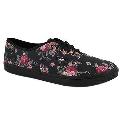 da8960b06dca82 Vans Floral Authentic Lo Pro VQES65L Womens Canvas Laced Trainers Black  Black - 8