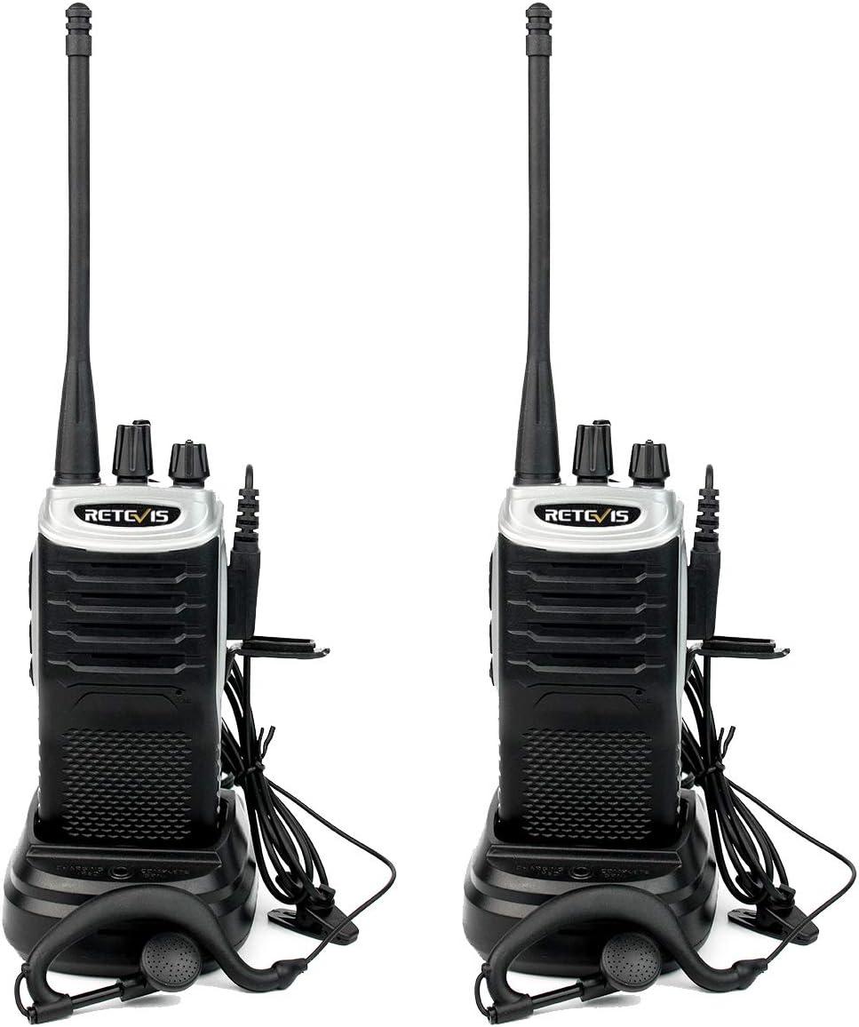 Retevis RT7 Walkie Talkie Profesional 16 Canales Alcance de hasta 4KM Función de Linterna Función FM Radio VOX CTCSS DCS Walkie Profesionales con ...