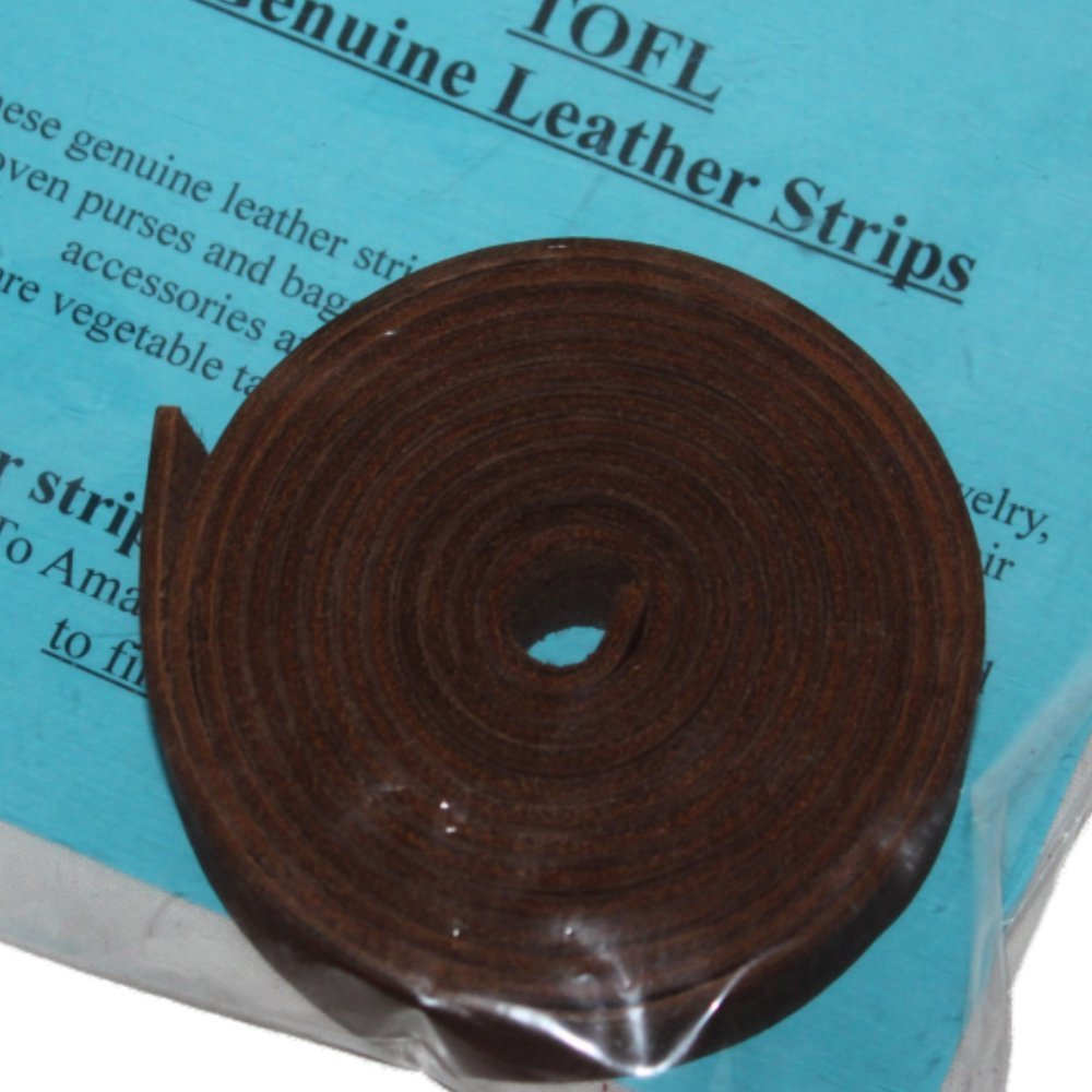 Leather Strap Black /¾ Inch Wide 72 Inches Long by TOFL