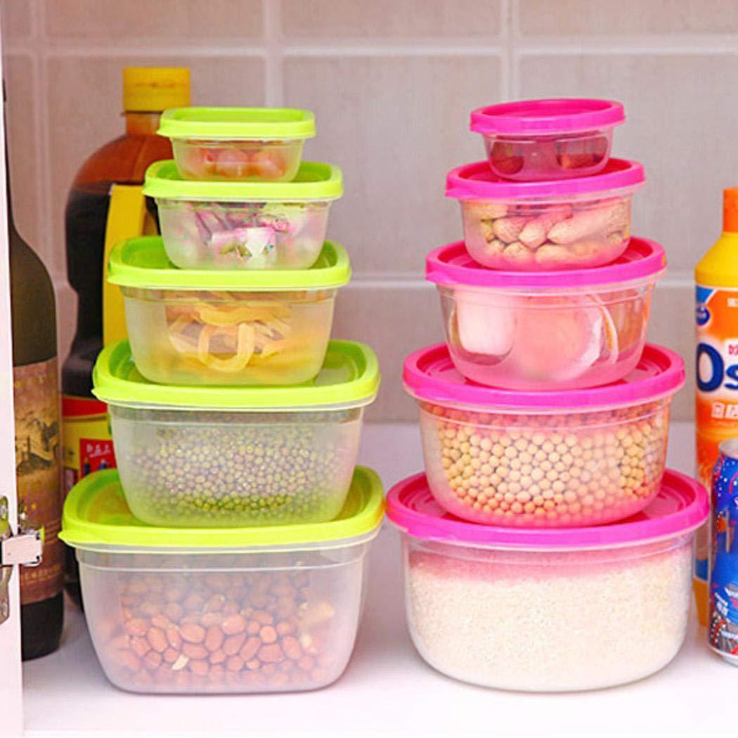 Eroihe Cocina Refrigerador Almacenamiento de Alimentos Caja de preservaci/ón sellada Cuencos para arroz