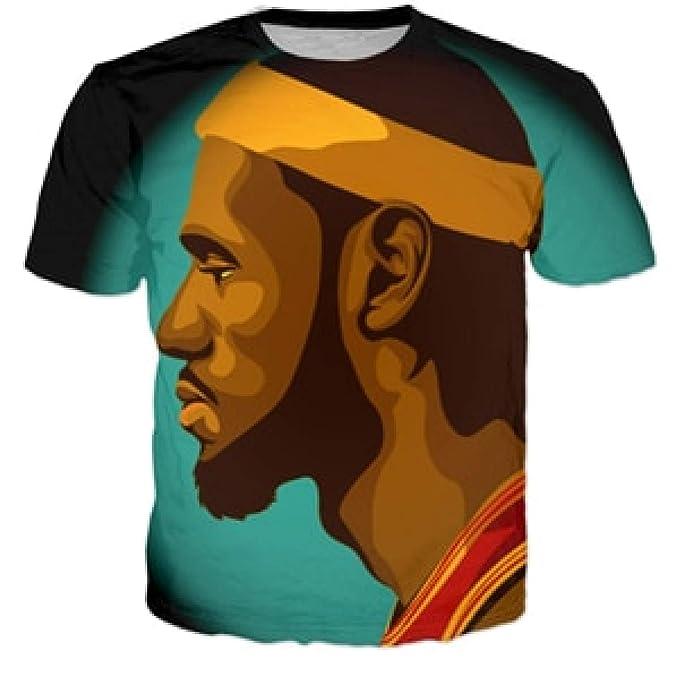 884e19fd6251 Amazon.com  T-Shirts Star Lebron James 3D Print Fashion T Shirt Style  Casual Tee Shirts  Clothing