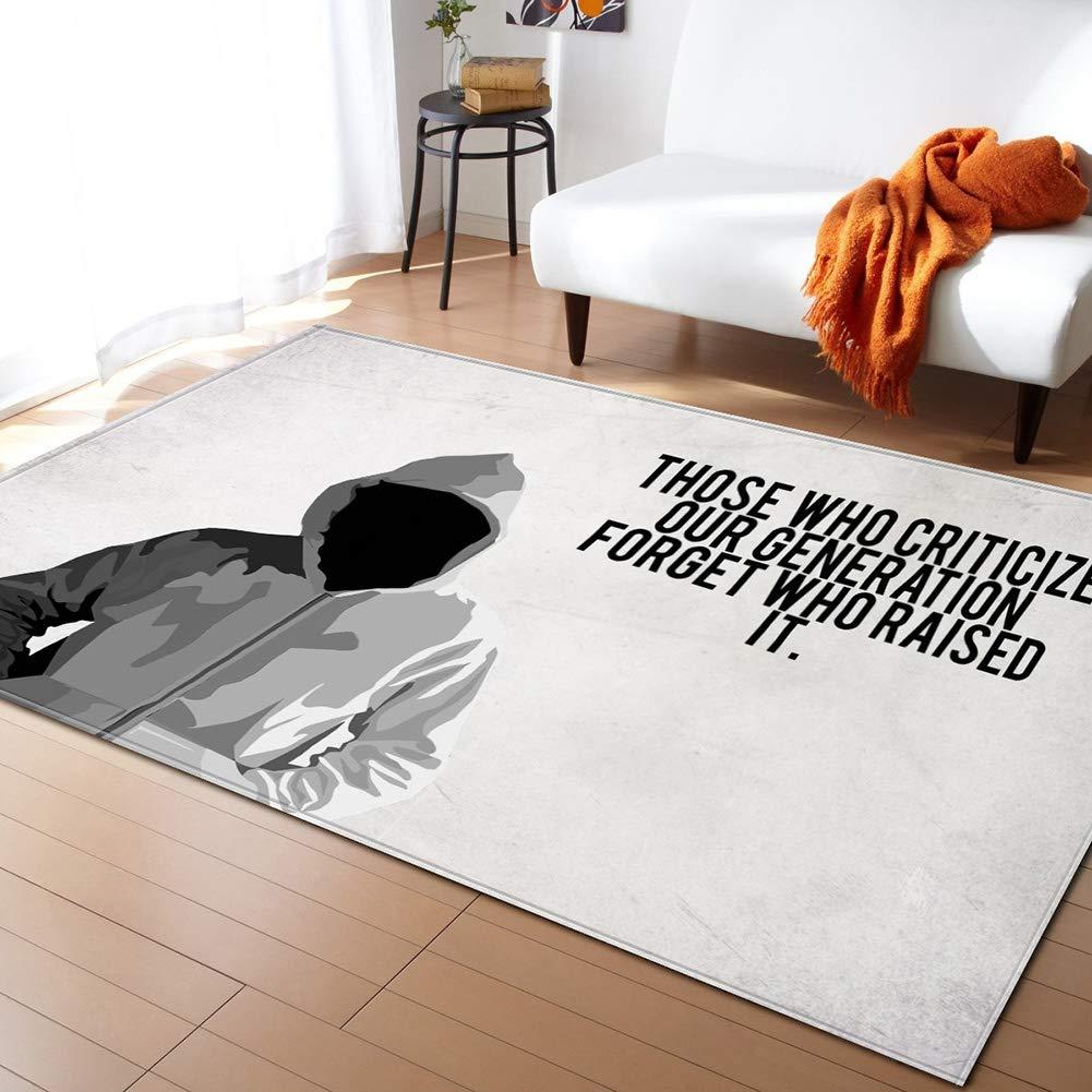 MATGHN Moderne Text-Szene Wohnzimmer Teppiche Für Kinder Arbeitszimmer Schlafzimmer Flur Flur Flur Büro Dekor Teppich,I,200x150cm B07PNNZF33 Teppiche 539fd7