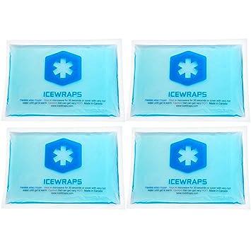 IceWraps Envases en frío caliente reutilizable - Set de 4 paños ...