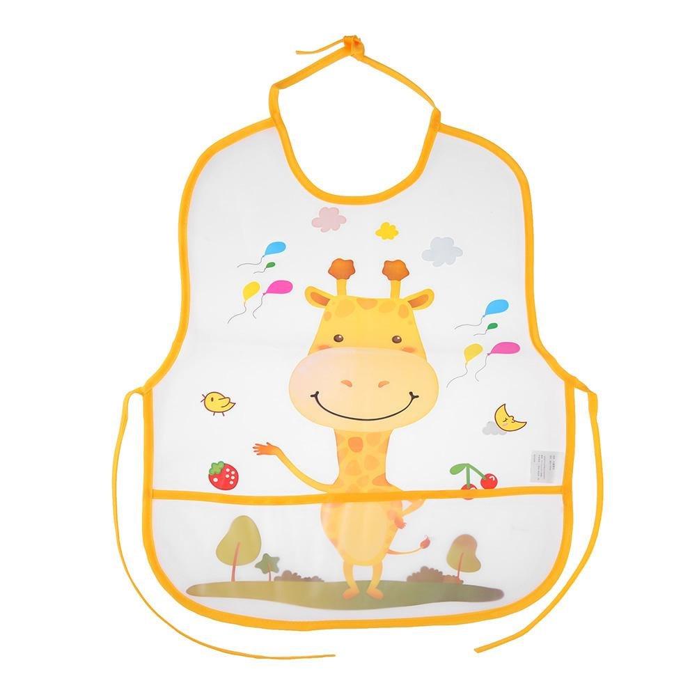 Domybest Bavoirs bébé imperméable à l'eau Dessin animé animaux Motif chiffons au nouveau-né nourrir Tablier