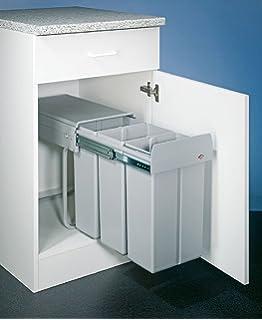 40 cm Hailo Tandem 7 K Abfallsystem Dreht/ür Vollauszug 2x 15 Liter