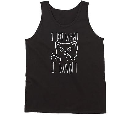 12b5f4ad6575 Amazon.com: I Do What I Want Funny Cat Tank Top: Clothing