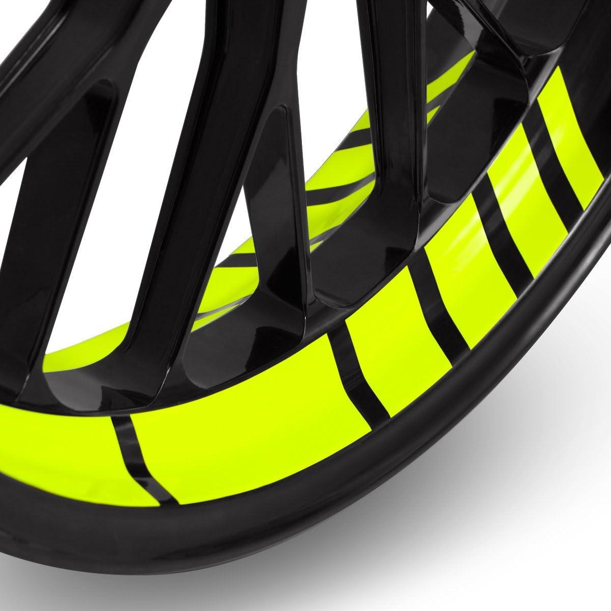 Motoking Felgenbettaufkleber Im Gp Design Komplettset Für 16 Bis 19 Farbe Breite Wählbar Sport Freizeit
