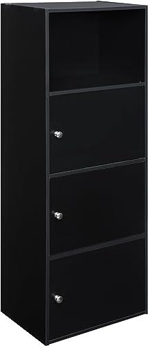 Convenience Concepts Xtra Storage 3 Door Cabinet, Black