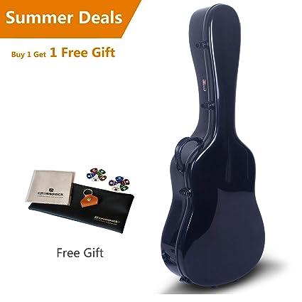 6019517a60 Amazon.com: Crossrock CRF1000DBK Fiberglass Acoustic Guitar Case ...