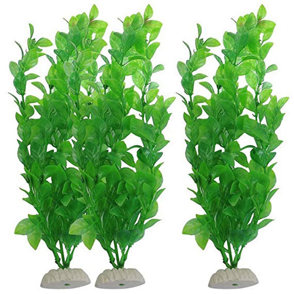 Bobury Artificiale alga verde Piante vivido plastica Fish Tank decorazioni vegetali per l'acquario
