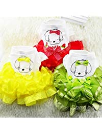Take Bargain World Summer Dog Dress Puppy Party Dress Bubble Fruit Doggy Colorful Skirt offer