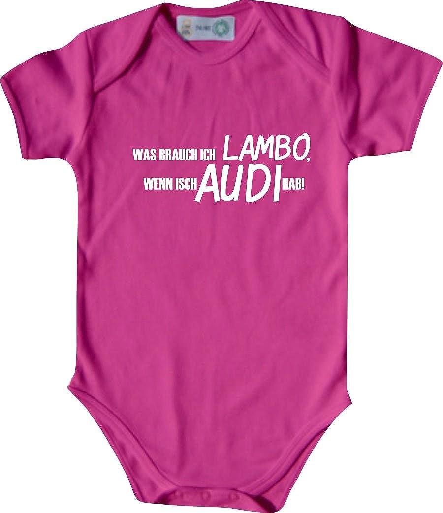 Unbekannt Lustiger Baby Body mit Druck//was Brauch Ich Lambo // Viele Farben//Gr/ö/ßen von 50 bis 92 Wenn Isch Audi Hab
