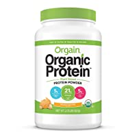 Orgain Organic Plant Based Protein Powder, Peanut Butter - Vegan, Low Net Carbs,...