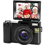 Cámara digital Vlogging con YouTube 24MP 2.7k Full HD cámara con pantalla abatible 180 grados de rotación
