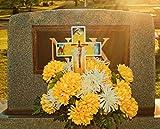 Eternal Light Solar Lighted Cross - Jesus Cemetery Decoration Grave Memorial