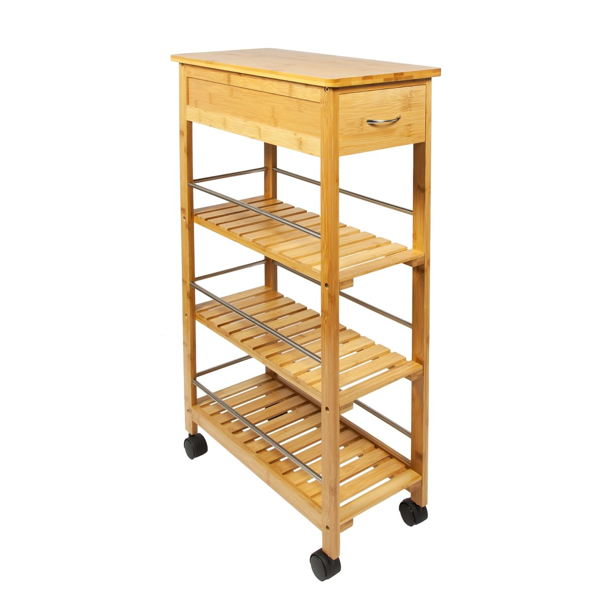 WoodLuv Slimline Space SAVER Bamboo Kitchen Islands Storage Trolley Cart Bamboo Natural Amazon.co.uk Kitchen u0026 Home  sc 1 st  Amazon UK & WoodLuv Slimline Space SAVER Bamboo Kitchen Islands Storage Trolley ...