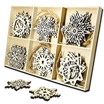 Wooden Snowflake Hanging Christmas Decorations