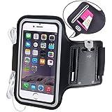 Avantree iPhone 6 6s Armband Case Tasche Sweatproof Joggen Sport Fitness, bis 4.7 Zoll + Schlüsselhalter + Kopfhörerhalterung, für iPhone 5 5s 5C 4S 6 6S Samsung Galaxy S3 S4 und viele mehr - Shield