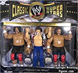 WILD SAMOANS & CAPTAIN LOU ALBANO CLASSIC SUPERSTARS 3-PACK WWE TOY WRESTLING ACTION FIGURES