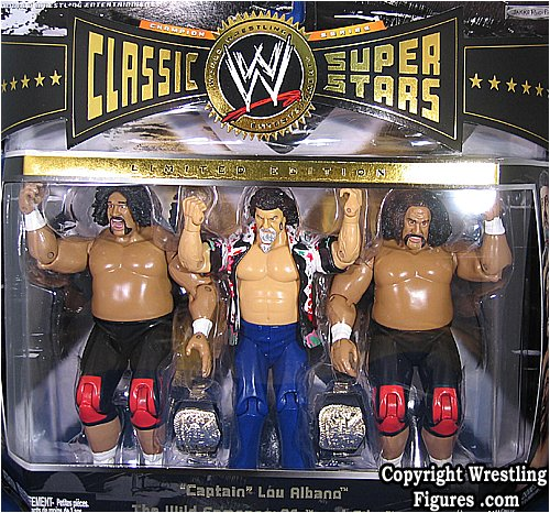 WILD SAMOANS & CAPTAIN LOU ALBANO CLASSIC SUPERSTARS 3-PACK WWE TOY WRESTLING ACTION FIGURES by WWE