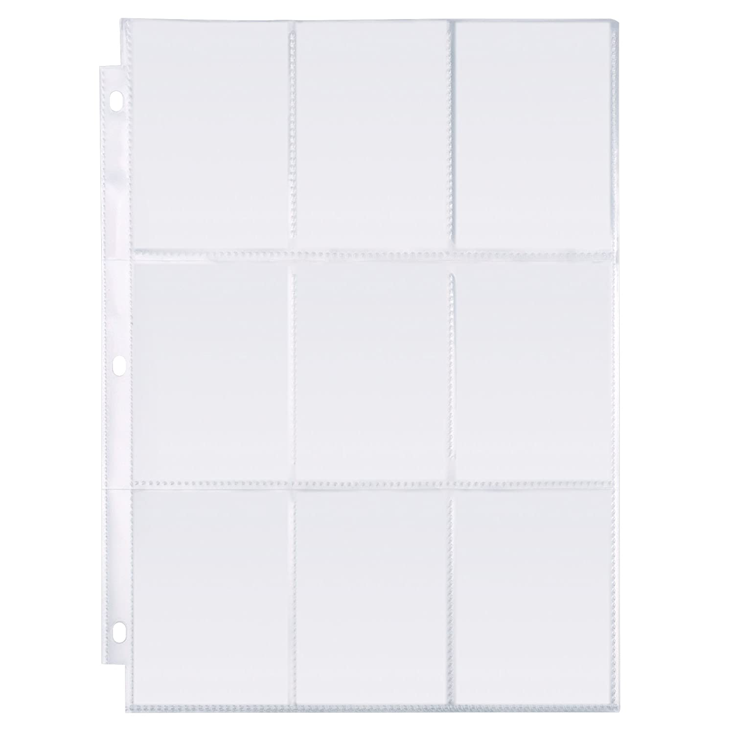 MaxGear 9 Pocket Pages Protectors Trading Card Pages Sleeves Coupon Pages for 3 Ring Binder Card Sheets for Trading Cards, Sport Cards, Game Cards, Business Cards, 30 Pages