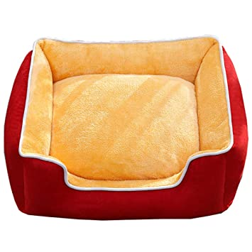 Lyuyu Cama de Perro, Cama de Mascotas Totalmente extraíble y Lavable colchones de Cuatro Estaciones