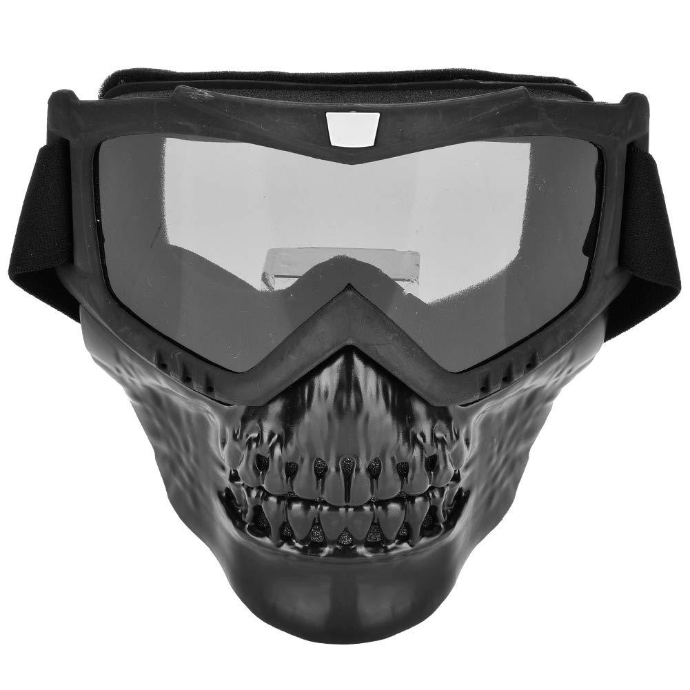 Occhiali per Casco Moto Maschera per Moto con Occhiali Protezione UV Occhiali da Equitazione per Sport allAria Aperta