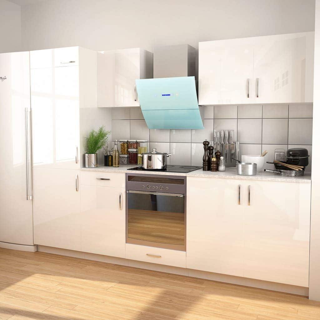 vidaXL - Bloque de Cocina Empotrado (270 cm), Color Blanco Brillante: Amazon.es: Juguetes y juegos