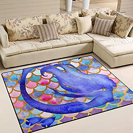 61zdl4ESvdL._SS450_ 50+ Mermaid Themed Area Rugs