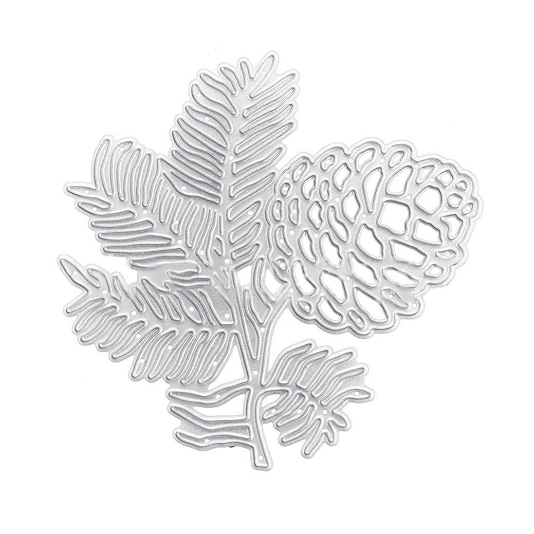 DISPLAY08pigna leaves fustelle in metallo, fai da te scrapbook album fotografico artigianale