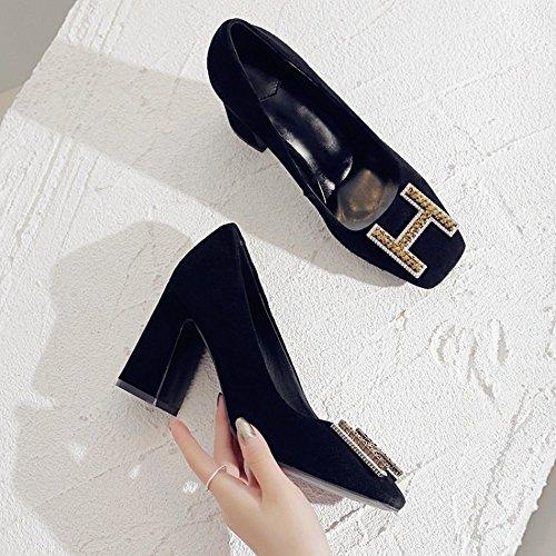 DIDIDD Zapatos de Tacones Altos de Primavera Señoras,UN,35