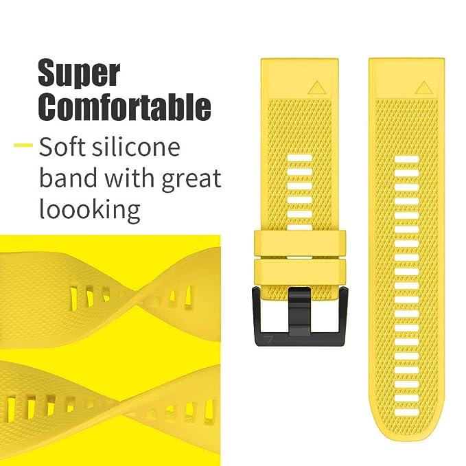 Amazon.com: Notocity - Correa de silicona para reloj Fenix ...