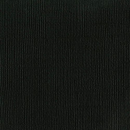 Bazzill Raven 12x12 Textured Cardstock | 80 lb Black Scrapbook Paper | Premium Card Making and Paper Crafting Supplies | 25 Sheets per Pack