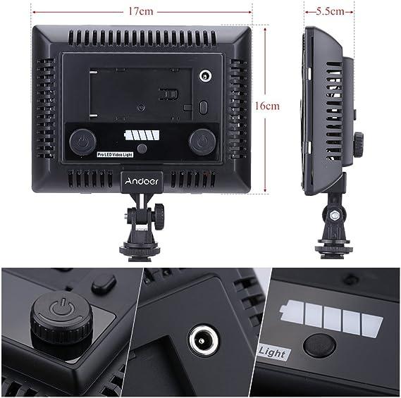 Alpha Andoer 300LED Video Light Photography Lamp Panel 6000K for Canon Nikon Pentax Sony Olympus Fujifilm DSLR Camera DV Camcorder