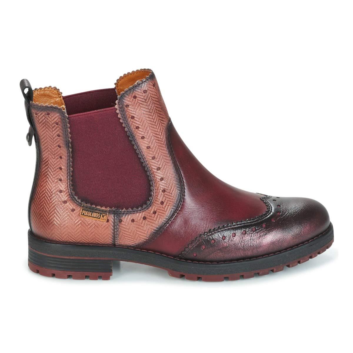PIKOLINOS Santander W4J Botines/Low Boots Mujeres Rot Kombi Botas de caña Baja: Amazon.es: Zapatos y complementos