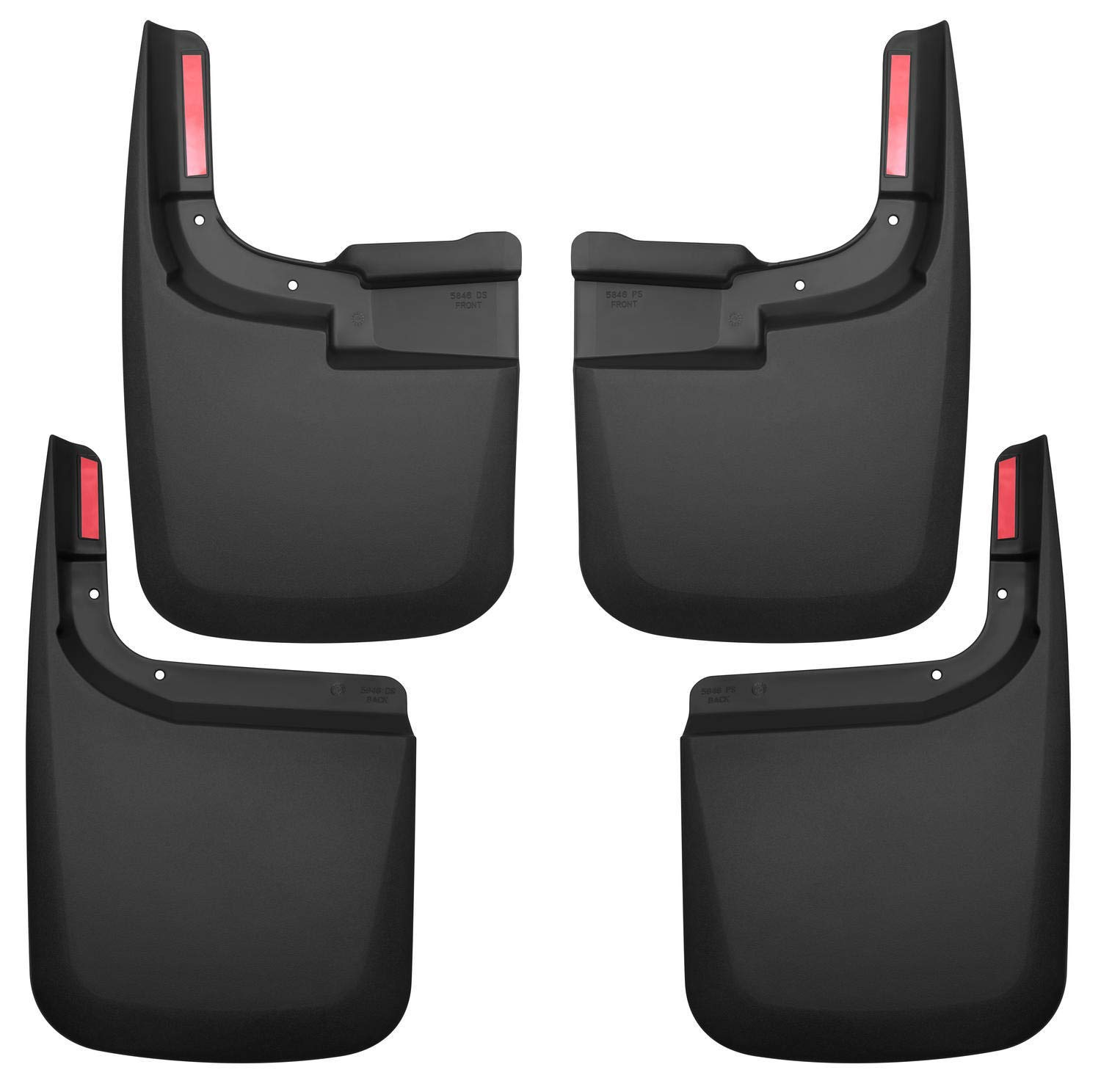 Husky Liners 58466 Set Black Front /& Rear Mud Guards Fits 15-17 F150 Without OE Flares