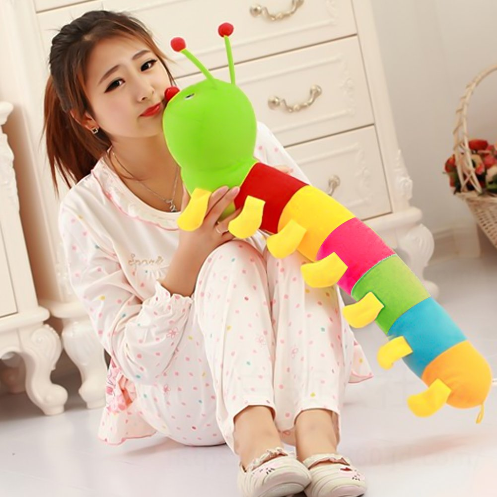 3 otters Plush Toys, Colorful Caterpillars Toys Plush Caterpillar Best Gift for Children & Baby, 31.5 inch