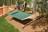 Smart Garden 52325-EGP Monte Carlo Double Quilted Hammock, Elm Green, Reversible Design Allows Plain or Stripe Design to be Displayed, 500-Pound Capacity Review