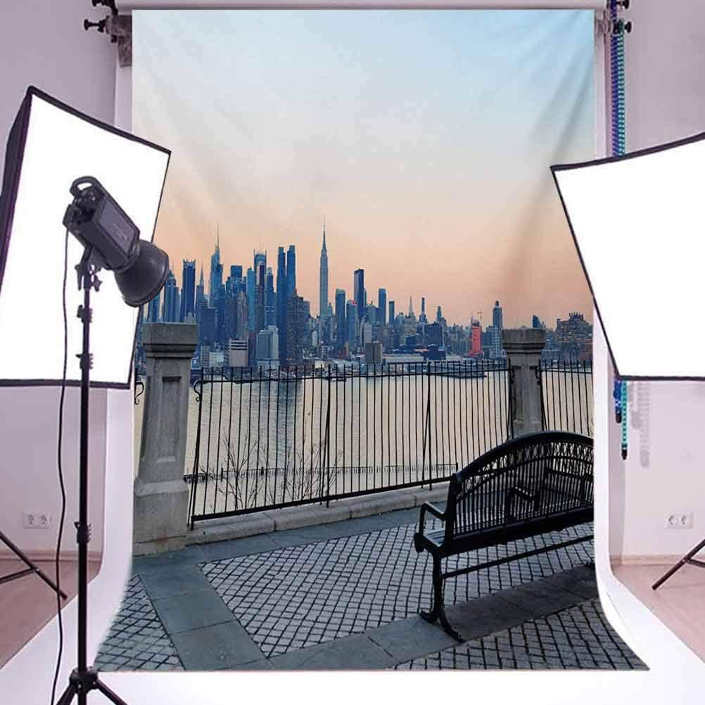 7x7FT Vinyl Backdrop Photographer,Nature,Sunset Over City Park Photo Backdrop Baby Newborn Photo Studio Props