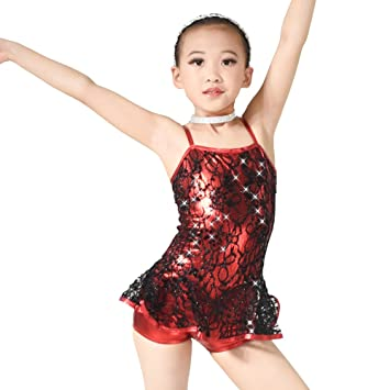 50a79e460 MiDee Little Girl s Foiled Bodice Lace Dance Dress Jazz   Tap ...